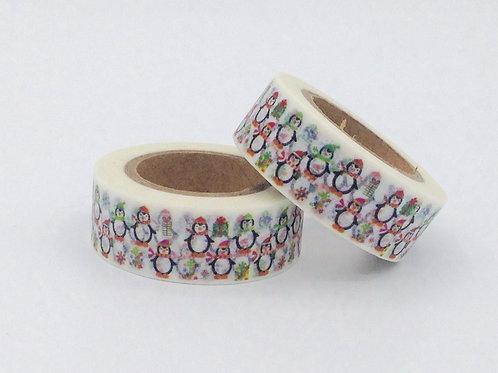 W258-  Masking tape Pingouins