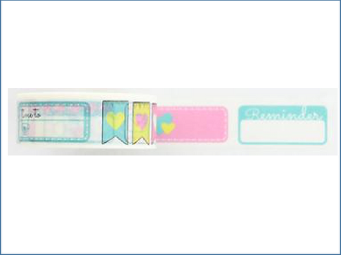 W353-  Masking tape planner post it logo bannière I Banner precut washi tape