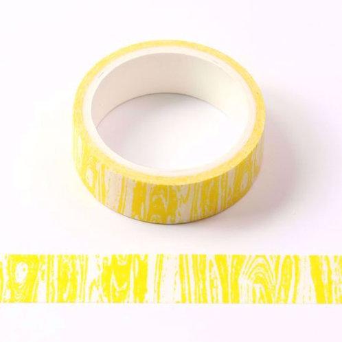 W452 - Masking tape  5m jaune motif bois