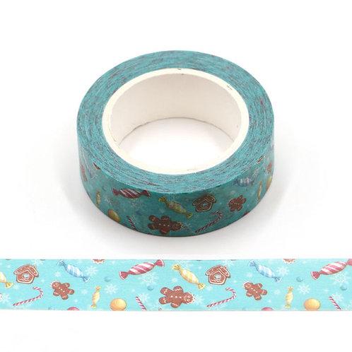 W478 - Masking tape 10m bonbons de Noël