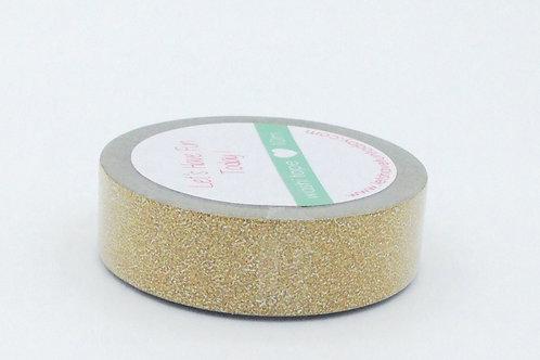 G002 - Masking tape paillettes doré