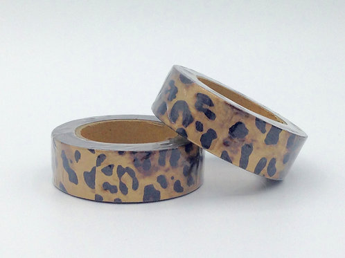 F075- Masking tape foil léopard