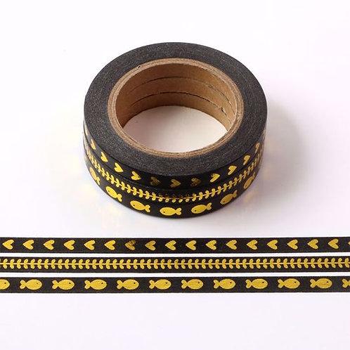 F113- Lot de 3 Masking tape foil fins 5mm noir