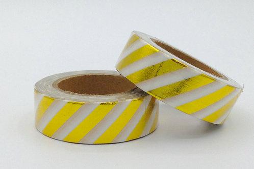 F009 - Masking tape foil Rayures Dorées