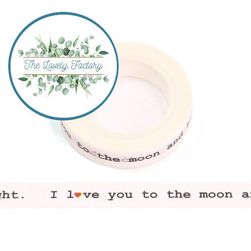 Masking tape I LOVE YOU TO THE MOON 10mm x 10m