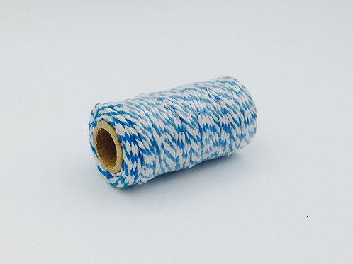 BT003 - Bobine de 20m de Baker's Twine bleu/blanc 12 plis