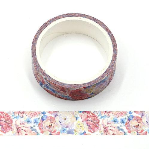 Masking tape paillettes fleurs été 15mm x 5m