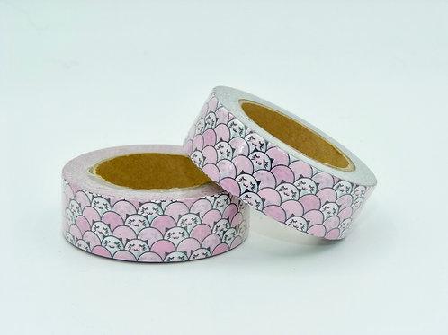 W196 - Masking tape motif floral rose