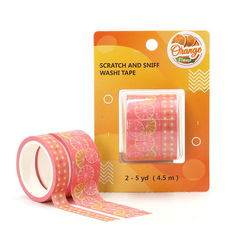 P008 - 2 Masking tape 5m parfumés odeur orange
