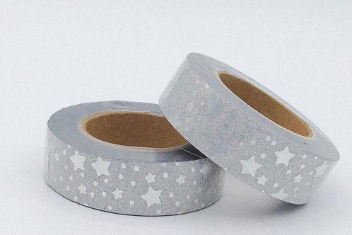 G009 - Paillettes étoiles argentées glitter