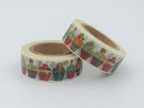 W256-  Masking tape cupcakes