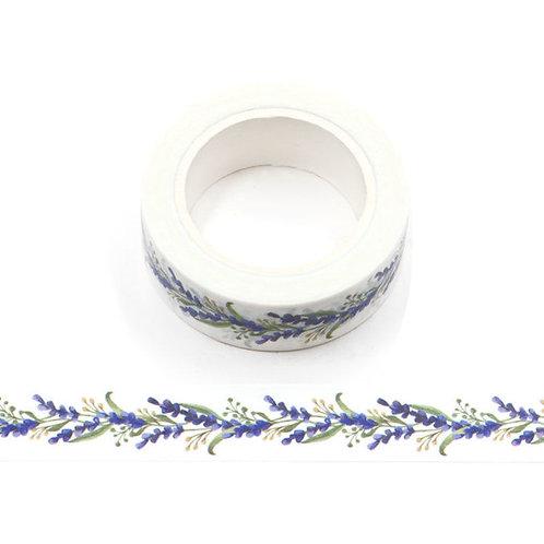 Masking tape fleurs de lavande 15mm x 10m