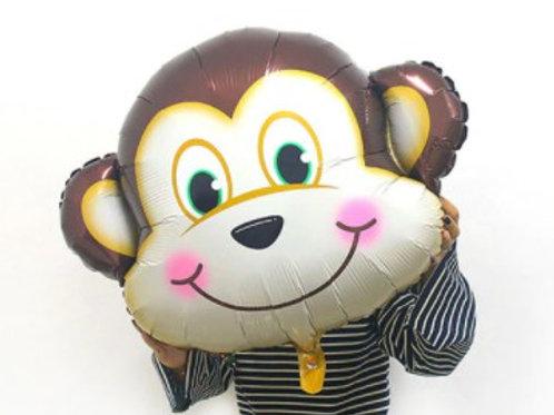 Ballon mylar géant singe - remplissage hélium