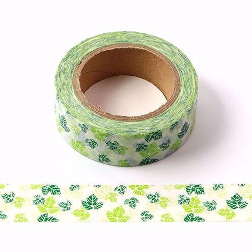 W464 - Masking tape  10m vert feuilles vertes
