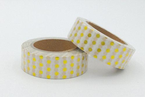 F014 - Masking tape foil pois dorés