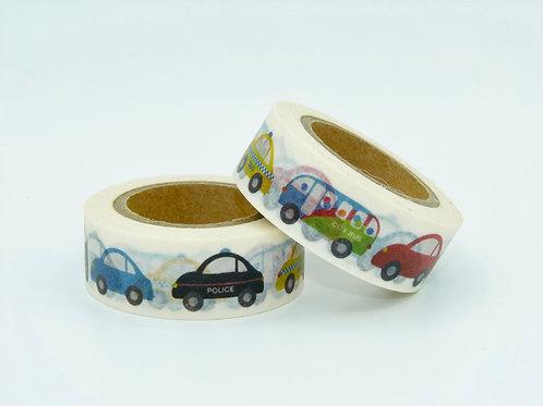 W060 - Masking tape voitures colorées