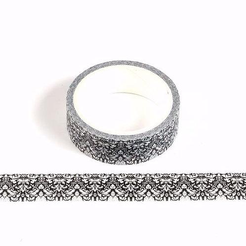W473 - Masking tape 5m motif noir et blanc