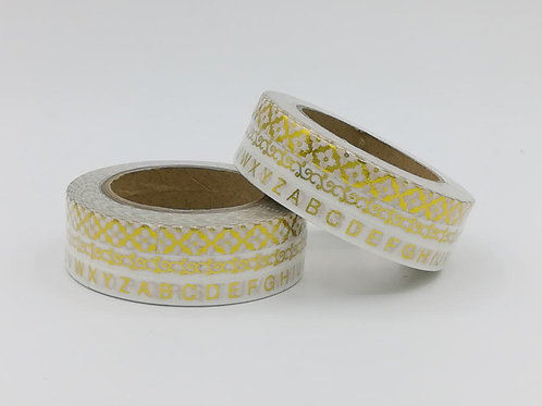 F121 - 3 Masking tape fins dorés