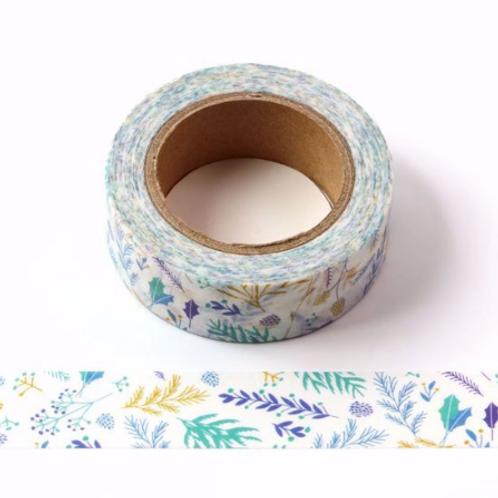 W442 - Masking tape  10m aquarelle florale