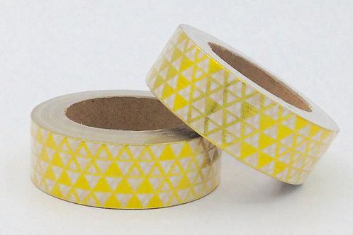 F067- Masking tape foil motifs triangles dorés