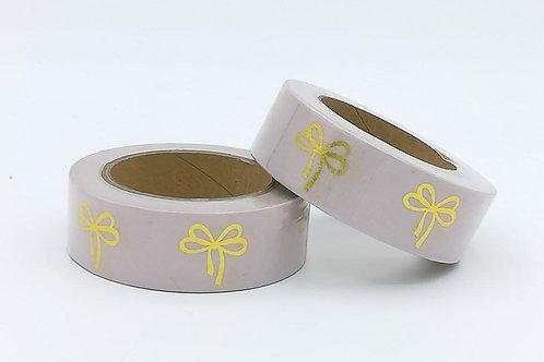 F105-  Masking tape foil noeud rose or dorées I pink nod gold