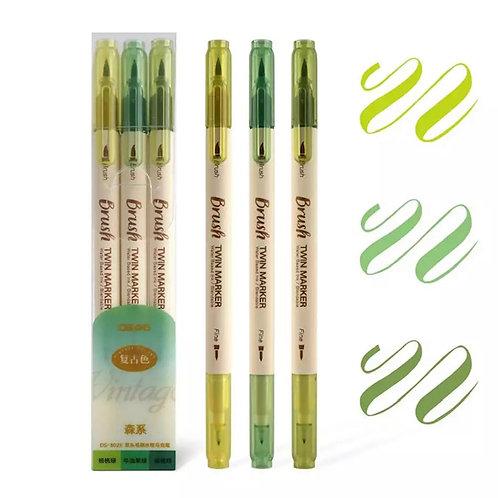 3 stylos brosse brush et pointe fine couleur aquarelle parfait pour let