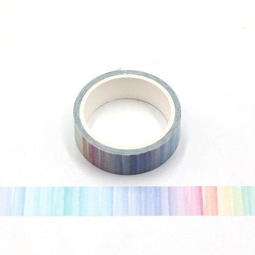 Masking tape arc en ciel aquarelle 5m W487