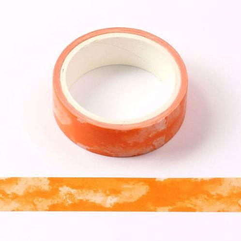 W459 - Masking tape  5m orange motif aquarelle