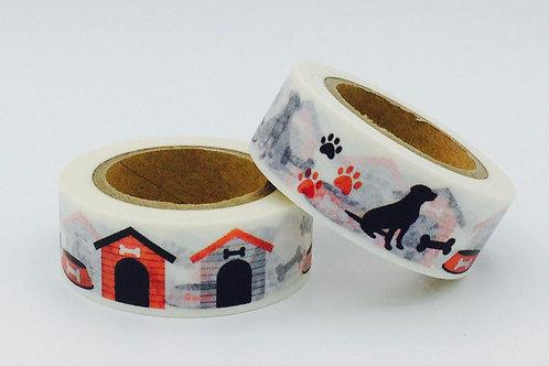 W306 - Masking tape chien + niche