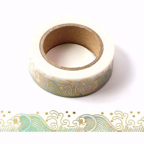 F136 - Masking tape foil vagues japonaises