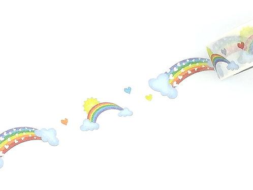 Masking tape arc en ciel  I Rainbow washi tape 15mm x 10m