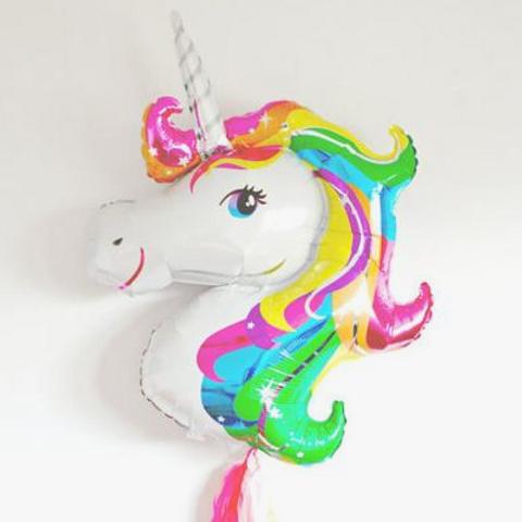 Ballon mylar géant Licorne anniversaireI Giant unicorn ballon mylar