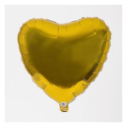 Ballon mylar géant coeur doré Or 45 cm fiançailles