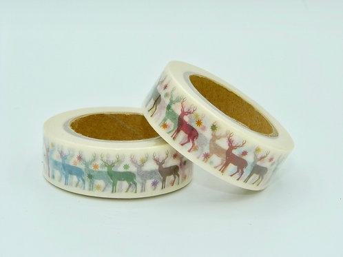 W100 -  Masking tape Rênes colorés