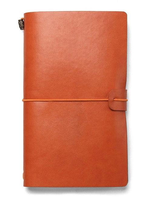 Carnet de voyage A6  120 pages feuilles, papier 80g, couverture simili cuir