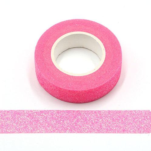Masking tape paillettes rose flashy glitter  15mm x 5m