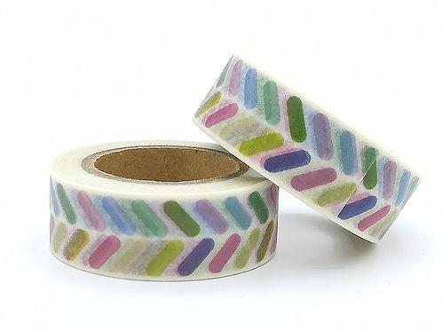 W378- masking tape confettis colorés
