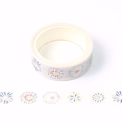 Masking tape métallique feux d'artifices 15mm x 5m