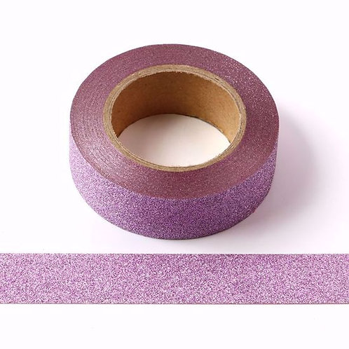 G016 - Masking tape 15mm paillettes rose glitter