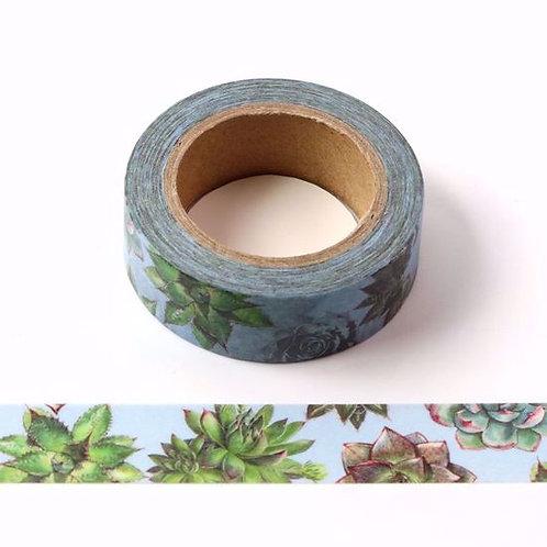 W415 - Masking tape fleur de cactus