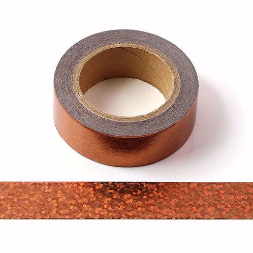 Masking tape métallique cuivre holographique 15mm x 10m