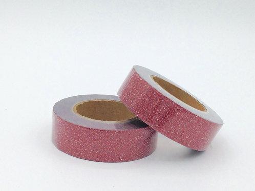G025 - Masking tape paillettes rouge glitter