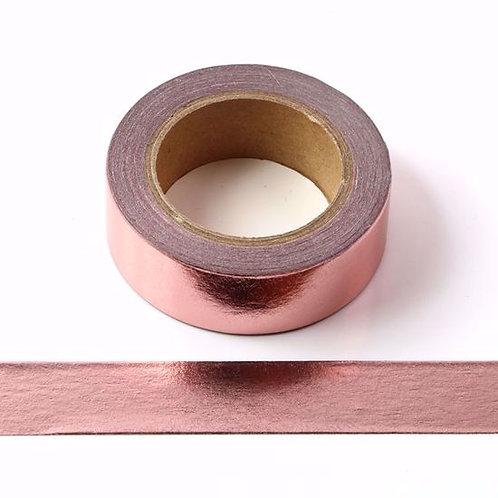 F110 - Masking tape métallique 15mm foil rose gold