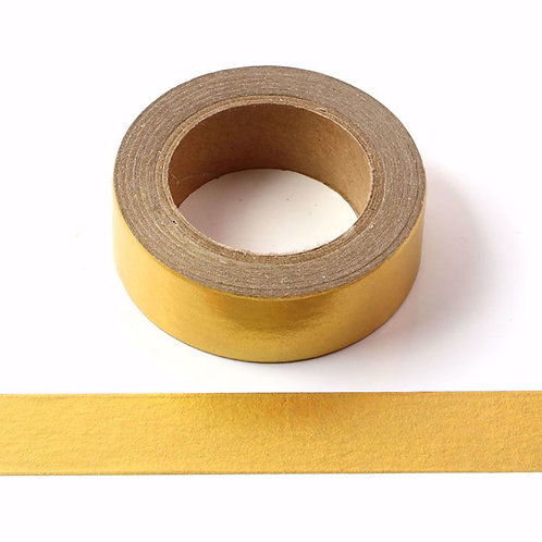 Masking tape métallique or mat uni 15mm x 10m