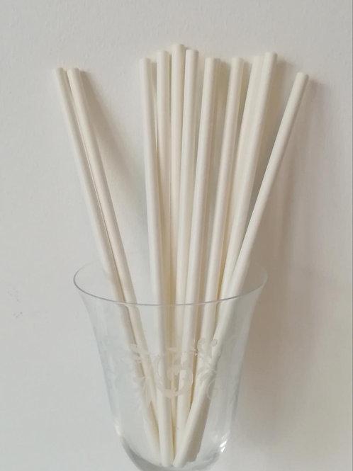 25 pailles papier blanches