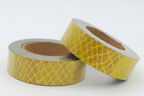 G003 - Masking tape paillettes glitter croco doré