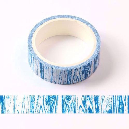 W449 - Masking tape  5m bleu motif bois