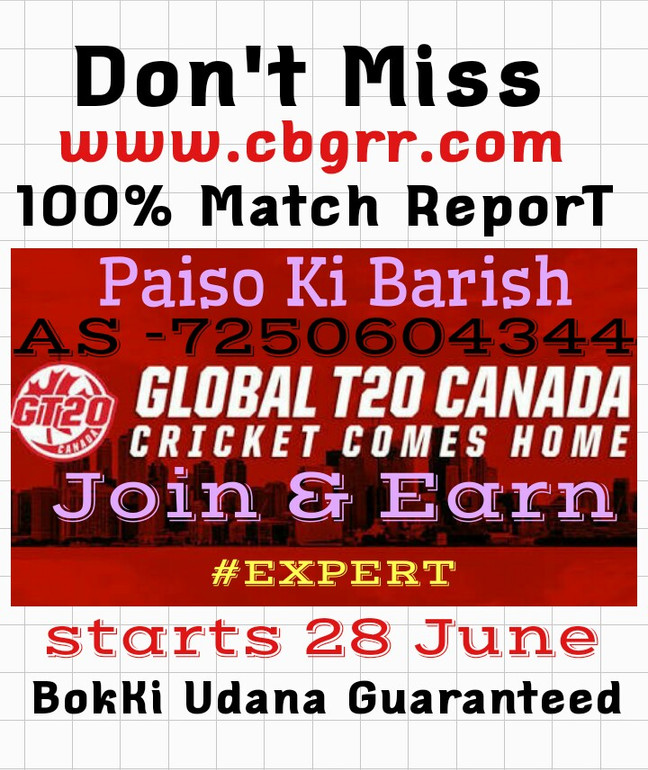 Join 4 Match Report of Canada 20-20 league starts 28 June