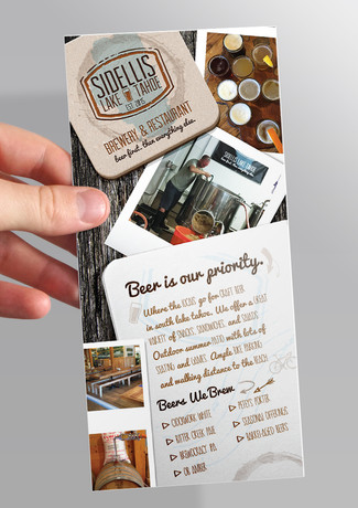 Sidellis Brewery Rack Card