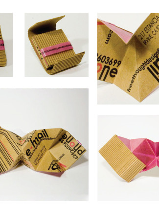 Personal 3D Business Cards // Designer // Free Thought Design
